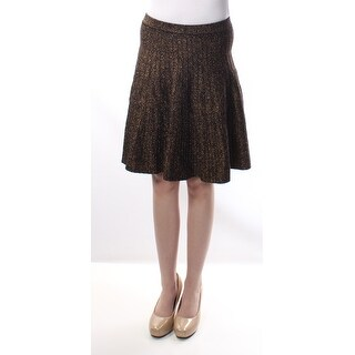 GRACE ELEMENTS Gold Party Below The Knee Fit + Flare Skirt XS B+B