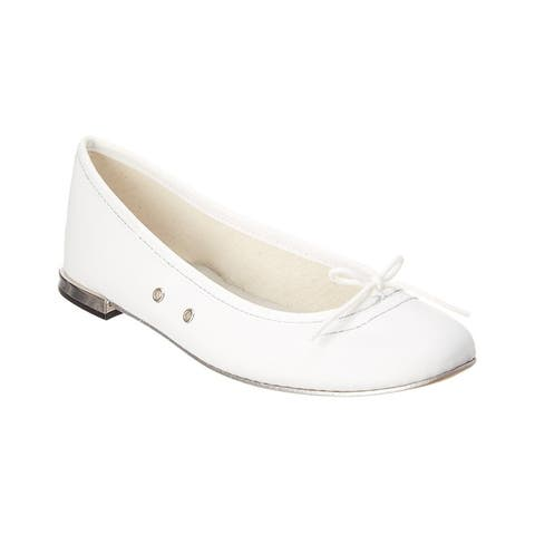 Repetto Italia Leather Ballerina Flat - 1173 - ARGENT/BLANC