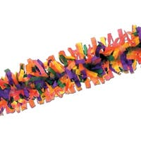 Club Pack of 24 Vibrant Rainbow Festive Tissue Festooning Decorations 25' - PURPLE