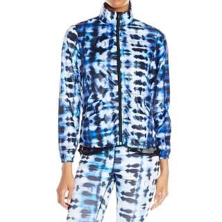 Karen Kane NEW Blue Women's Size Large L Printed Windbreaker Jacket