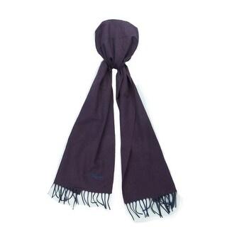 St. Dupont Paris 100WS VM Purple/Navy 100% Cashmere Classic Mens' Scarf