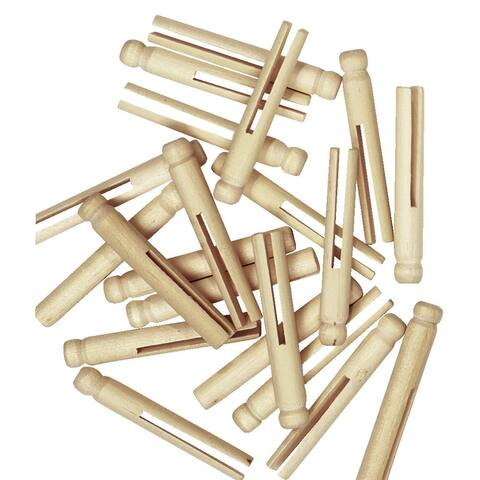 Creativity Street Wooden Doll Pins, 3-3/4 Inches, Natural, Pack of 30