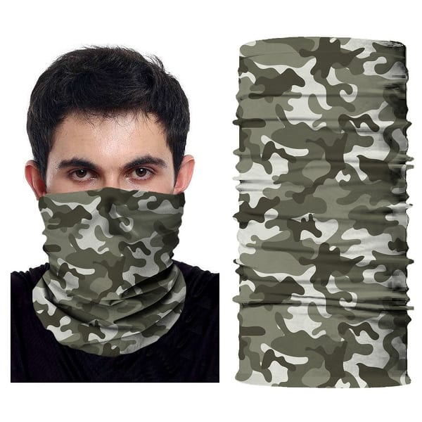 Women/'s Multifunctional Headwear Balaclava Headband Neck Gaiter Camouflage 2