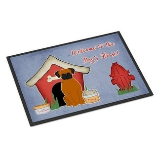 Carolines Treasures BB2869MAT Dog House Collection Fawn Boxer Indoor or Outdoor Mat 18 x 0.25 x 27 in.