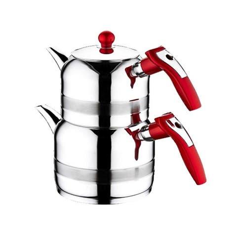 Cookware Stainless Steel Teapot Modern Teapot Silver Teapot