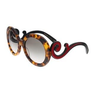 Prada PR 08TS VAH4K0 Spotted Havana Round Minimal Baroque Sunglasses - 55-22-135