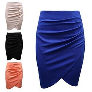 Fashion Women's Business Suit Pencil Skirt Knee Length Drape Fishtail Shape Skirt