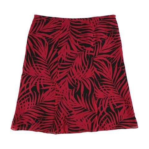 Le Suit Womens Foliage A-line Skirt, pink, 16