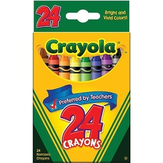 Crayola(R) Standard Crayon Set, Tuck-Box, Assorted Colors, Box Of 24in.