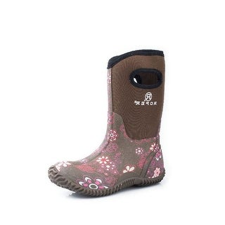 Roper Outdoor Boots Girls Rubber Muck Floral Brown