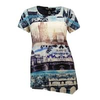 Style & Co Women's Prague Graphic Embellished Blouse - city stripes