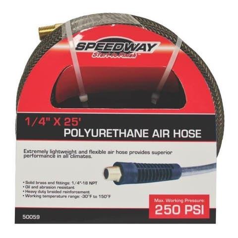 """Speedway 50059 Polyurethane Air Hose, 1/4"""" x 25'"""