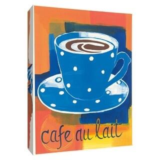 "PTM Images 9-154414  PTM Canvas Collection 10"" x 8"" - ""Cafe au Lait"" Giclee Coffee, Tea & Espresso Textual Art Print on Canvas"