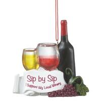 "3.5"" Tuscan Winery Sip By Sip Wine Bottle and Glasses Christmas Ornament - RED"