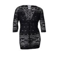 Dotti Women's Deep V-Neck Pointelle Tunic Swimsuit Cover