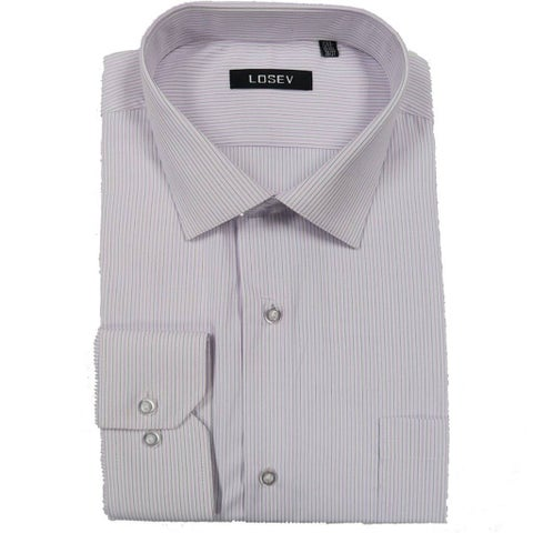 Men's Long Sleeve & Collar Dress Shirts (Pink Stripes)