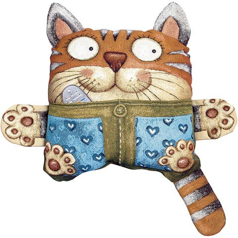 STP Goods Decorative Cat with Pocket Tapestry Throw Pillow