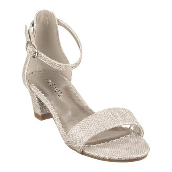 ac70b765ab85 Shop Nine West Kids Girls  Eevah Ankle Strap Sandal Silver Metallic Mesh -  On Sale - Free Shipping On Orders Over  45 - Overstock - 22205882