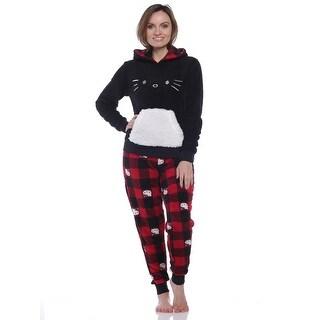 Hello Kitty Women's Hooded Plush Pajama Set