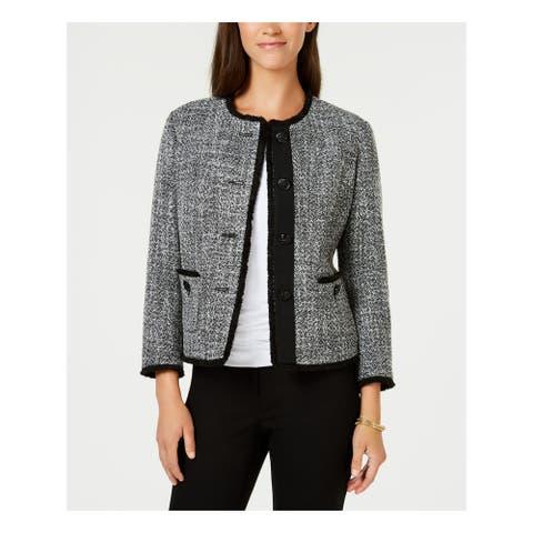 ANNE KLEIN Black Blazer Jacket Size 16