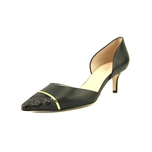 Kate Spade Womens Pam Kitten Heels Glitter Pointed Heel
