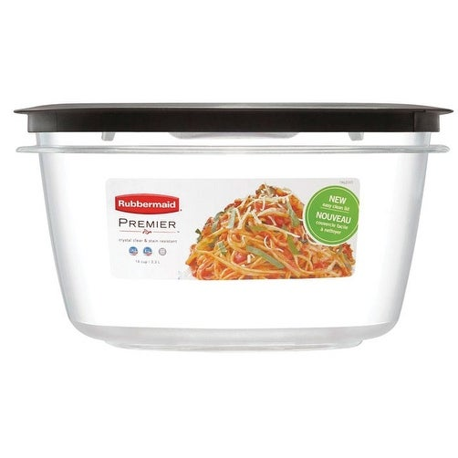 "Rubbermaid 1937693 Square Small Food Container, Clear, 7-1/8"" X 7-1/8"" X 3.56"""