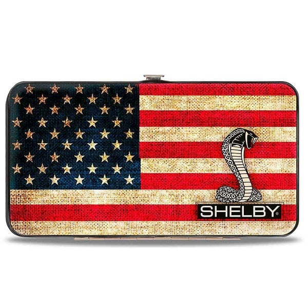 Shelby Tiffany Box Americana Black White Hinged Wallet - One Size Fits most