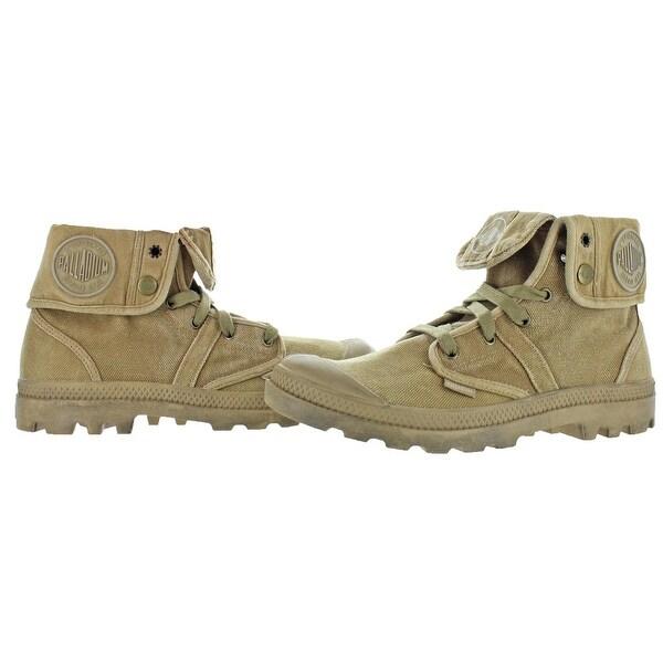 Shop Palladium Mens Pallabrouse Baggy Combat Boots Canvas