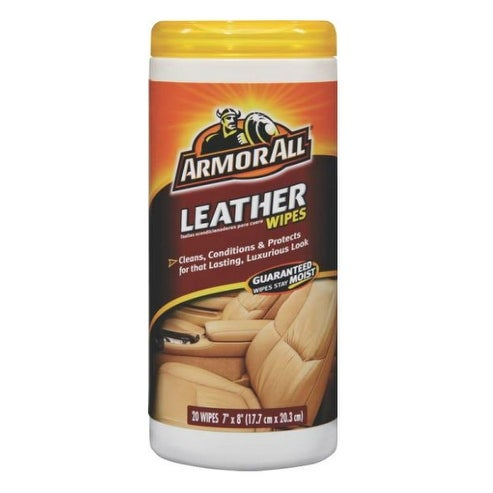 Armor All 10881 Leather Wipe, 20 count