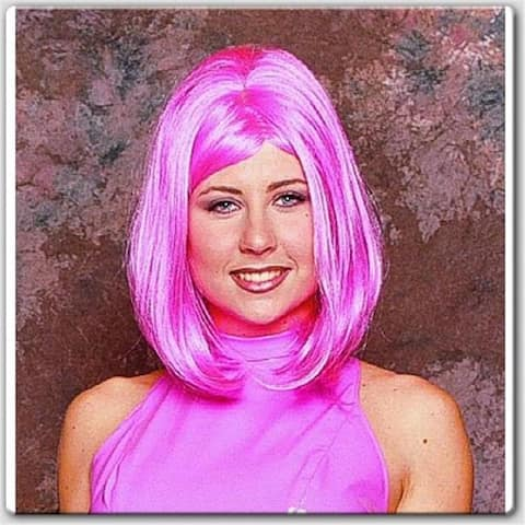RG Costumes 60035 Peggy Sue Wig - Pink - Size Adult