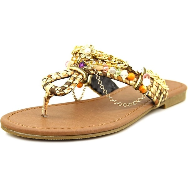 Famous Name Brand Beachside Open Toe Canvas Thong Sandal