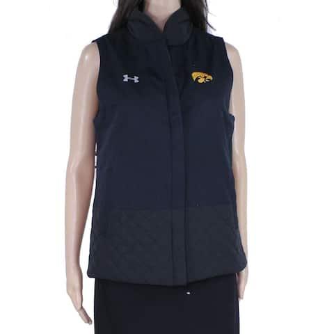 Under Armour Womens Jacket Black Size Small S Vest Iowa Hawkeyes