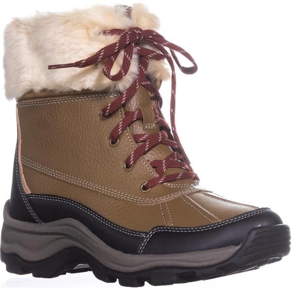 Clarks Mazlyn Arctic Fur Cuffed Hiking Boots, Tan - 6.5 us / 37 eu