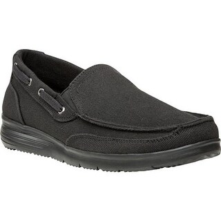 Propet Men's Sawyer Slip On Shoe Black Canvas