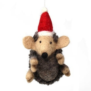 Link to Handmade Felted Wool Christmas Ornament, Hedgehog Similar Items in Christmas Decorations