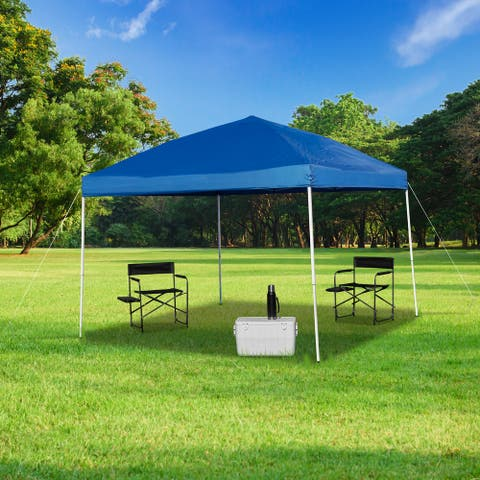 10'x10' Weather Resistant Easy Pop Up Event Straight Leg Instant Canopy Tent - 10x10