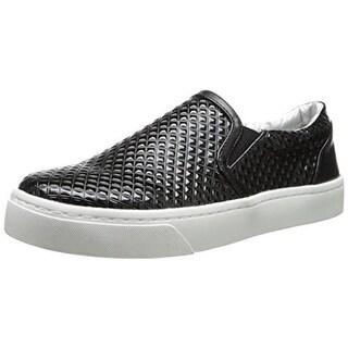 Luichiny Womens Vay Kay Casual Shoes Metallic (Option: Black)