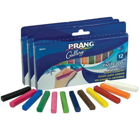 Prang (3 bx) pastello chalk pastel 12 10441bn