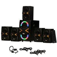 Acoustic Audio AA5210 Home 5.1 Speaker System Bluetooth Optical In 5 Ext. Cables