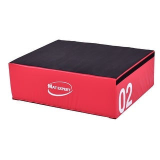 Gymax 12'' PVC Soft Foam Jumping Box Plyometric Exercise Fitness Safe Red