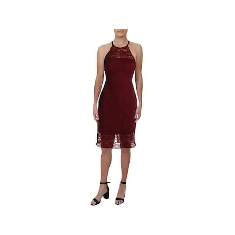 GUESS Womens Maroon Halter Knee Length Sheath Dress Size 2