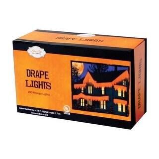 Sienna 186B4E11 Halloween Mini Drape Lights 100 Orange Lights