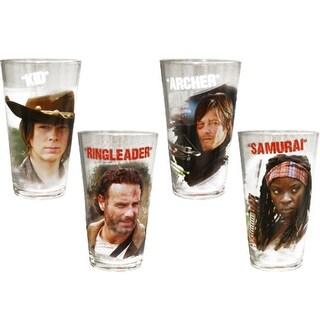 Walking Dead 4 Pack Pint Glass Set - Multi