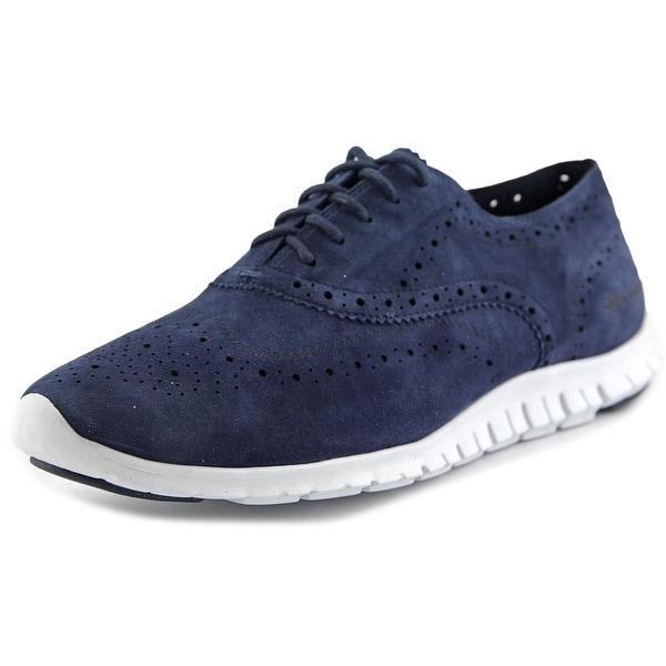 Cole Haan ZeroGrand Wing Ox Women Suede Blue Fashion Sneakers