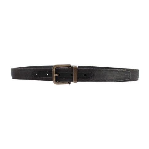 Dolce & Gabbana Dolce & Gabbana Gray Fabric Gold Buckle Logo Waist Belt - 90-cm-36-inches