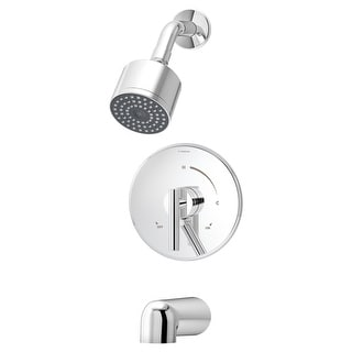 Symmons S-3502-CYL-B  Dia Tub and Shower Trim Package with Single Function Shower Head and Double Lever Handle