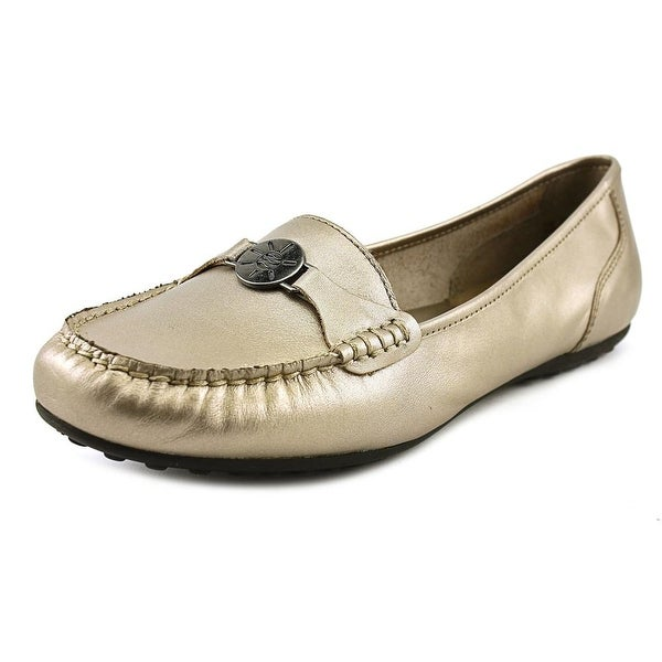 Array Bria Women Moc Toe Leather Bronze Loafer