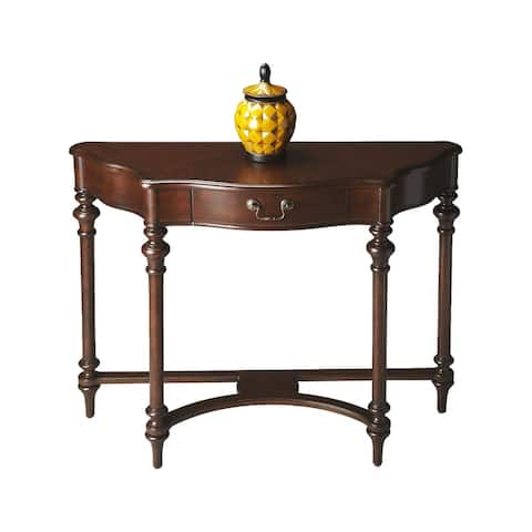 """Offex Classic Wooden Console Table in Plantation Cherry Finish - 40""""W x 14""""D x 32""""H"""