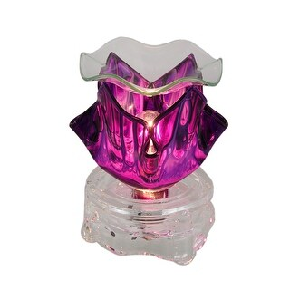 Purple Marbled Glass Electric Oil Burner/Tart Warmer w/Dimmer Switch