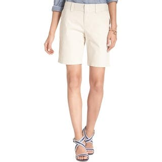 Tommy Hilfiger Womens Bermuda, Walking Shorts Twill Flat Front|https://ak1.ostkcdn.com/images/products/is/images/direct/8a75322f17c4e7344f9b9e133108ba57c8f1e1cf/Tommy-Hilfiger-Womens-Bermuda%2C-Walking-Shorts-Twill-Flat-Front.jpg?impolicy=medium